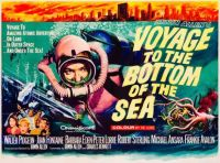 VOYAGE TO THE BOTTOM OF THE SEA - 1961 FILM POSTER - WALTER PIDGEON, JOAN FONTAINE,etc