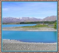 Turquoise waters of Lake Tekapo.