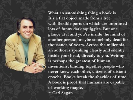 Carl Sagan: what is a book?