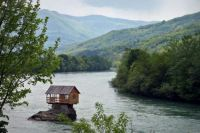 House on Drina river
