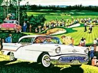 On the Green - 1957 Oldsmobile Super 88 advertisement