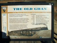 Ghan Railway sign