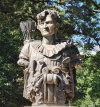 Statue Honoring Indian Chief Tecumseh