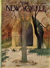 The New Yorker - October 28, 1972 /  Cover art by Charles E. Martin