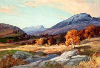 Sir David Young Cameron, RA--Highland Landscape