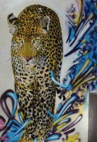 LEOPARD, STREET ART, PARIS