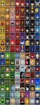 Faces of Superheroes