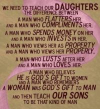 A Lesson for our Daughters