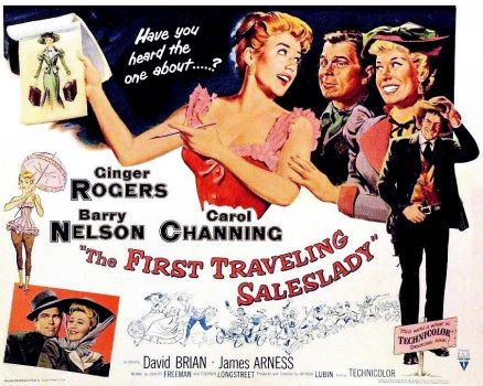 THE FIRST TRAVELING SALESLADY - 1956 POSTER  GINGER ROGERS, BARRY NELSON, CAROL CHANNING