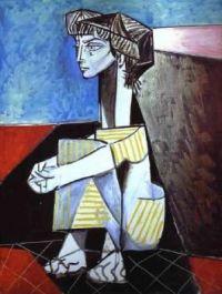 Pablo Picasso - Jacqueline kneeling - 1954