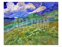 "Vincent Van Gogh ""Wheat Fields and Mountains"" 1889"