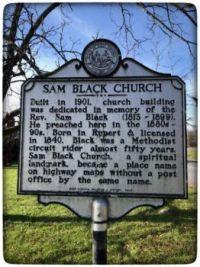 Sam Black Church Historical Marker