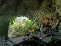 Oviedo, Spain cave with archeology team
