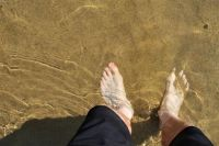 my feet in the Mediterranean Sea