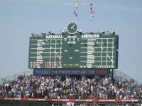Wrigley Field score board