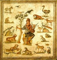 Orpheus surrounded by animals