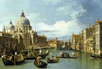 Entrance to the grand canal venice 1730