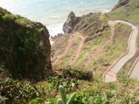 Road to Garajau beach, Madeira.