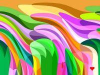 Pastel Twisted Hills - Medium
