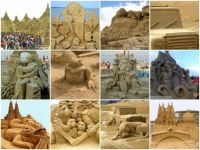 Sand Sculpture Mosiac--Really Big Pieces