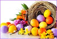 Easter Tumble of Joyful Colours