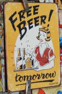 free beer tin poster