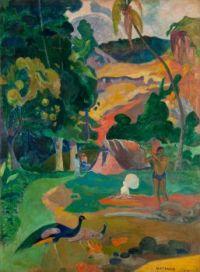 Paul Gauguin: Paisaje con pavos reales, 1892
