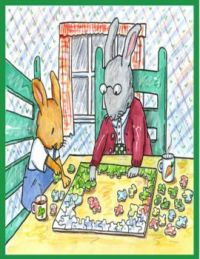 Even bunnies like to do puzzles.