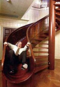 Spiral Staircase Slide! 😄