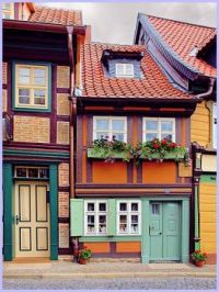 Ancient houses in Germany
