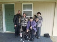 Our Happy Family In Front of Our New Home!