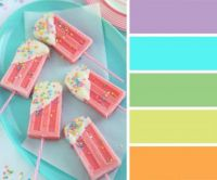 Pastel Ice Lollies on a Platter