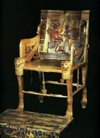 Another View of that incredible chair of King Tut