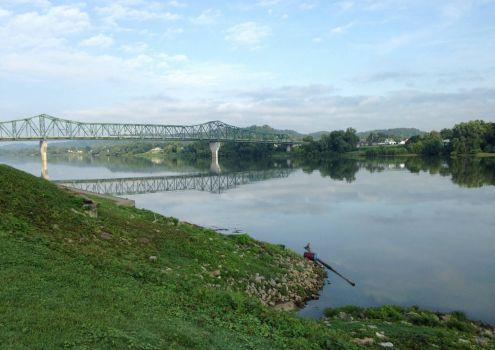 Bridge over the beautiful Ohio River, WV