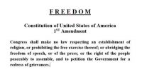 1st Amendment, US Constitution