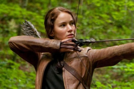 Katniss shooting