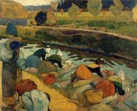 Paul Gauguin - Washerwoman at the Roubine de Roi Arles - 1888