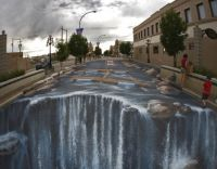 Riverstreet River Waterfall - 3d Chalk Art - By Edgar Mueller