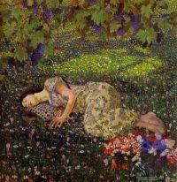 Felice Casoati - Dreaming of Pomegranates, 1912.