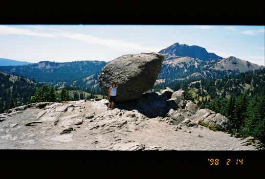 One big Lava Rock, Lassen Ca