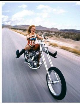 Ann-Margret on a chopper...