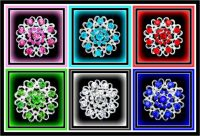 Six Colorful Brooches - enjoy