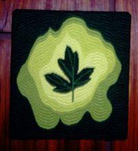 Freeform bargello w/leaf - 2