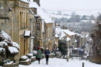 Winter in Burford, England.