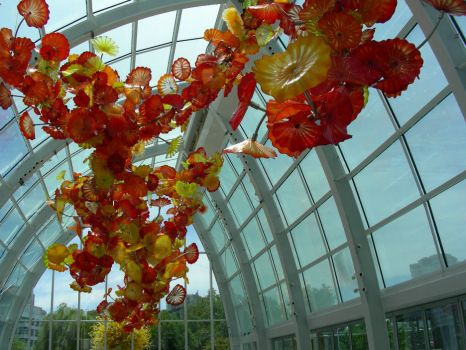 Chihuly Museum, Seattle -- from the inside.  Last of my series.