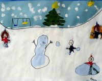 Rebecca's snow scene