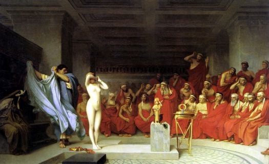Phryne revealed before the Areopagus