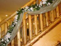 stair rail at the wedding