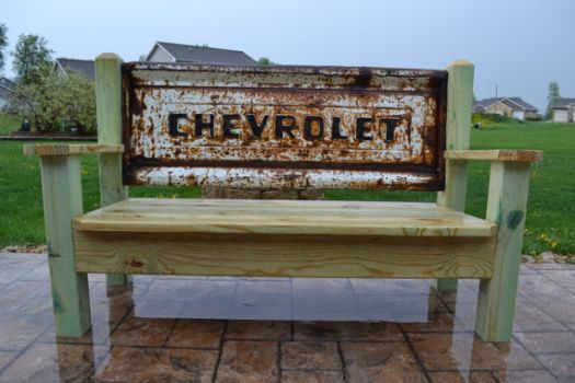 'Come Sit A Spell'.... On My Chevrolet Bench