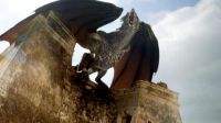 drogon on the pyramid of Mereen